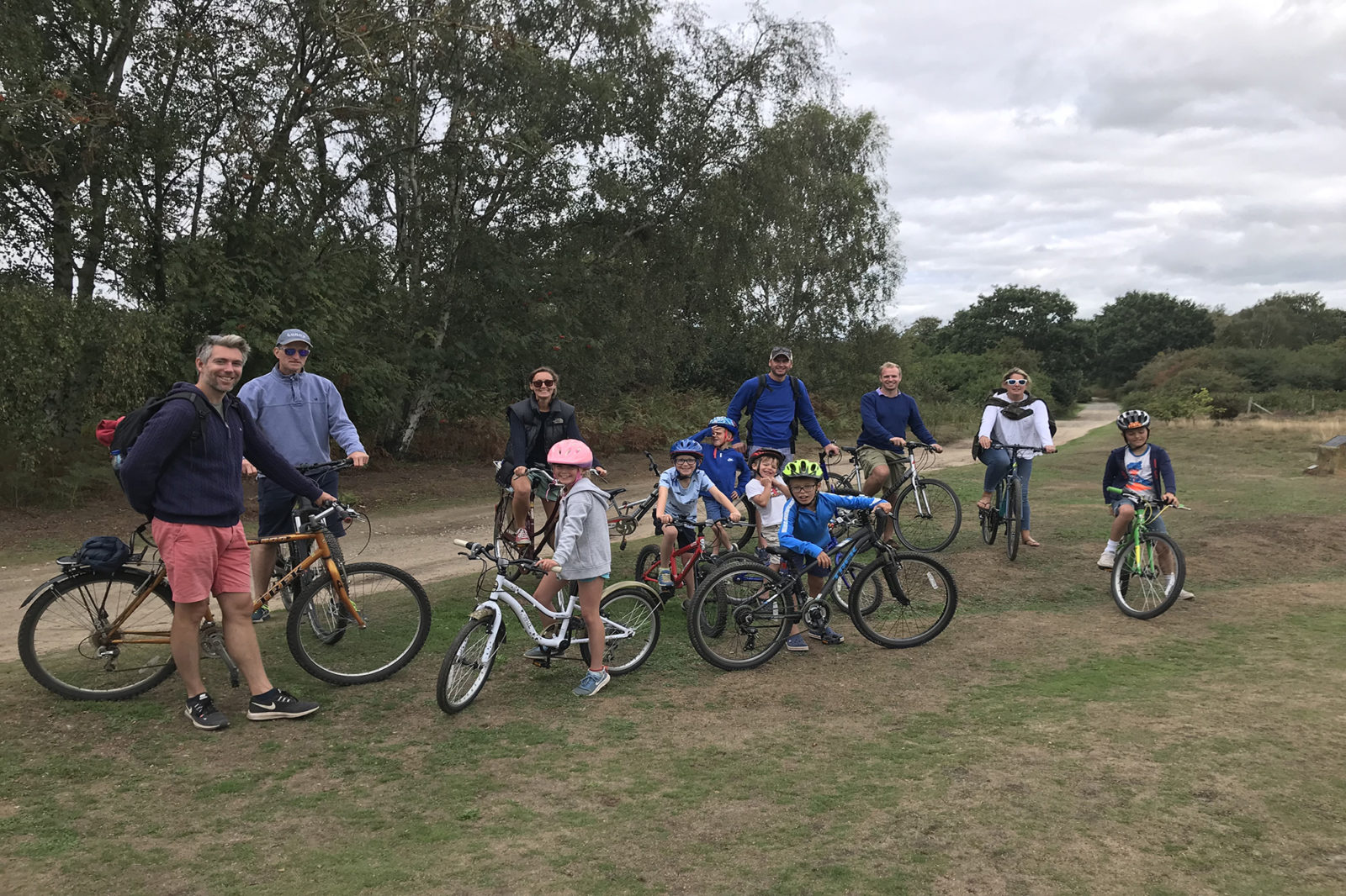 Family cycling from Southwold to Walberswick