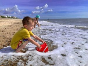 Family fun on Southwold Beach