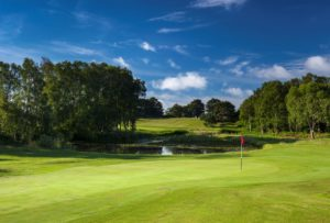 The stunning green at Thorpeness Golf Course