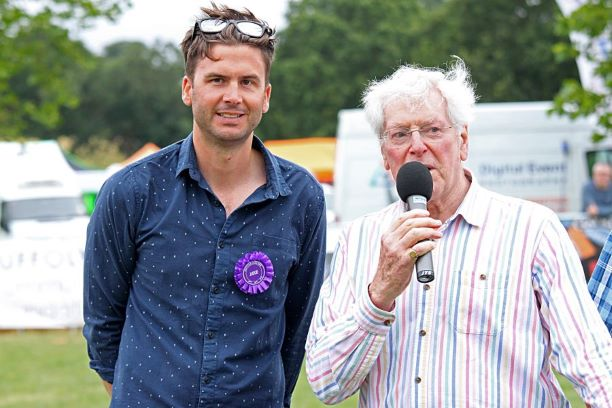 Suffolk Dog Day Peter Purves with Tim Ripman, Head of Operations