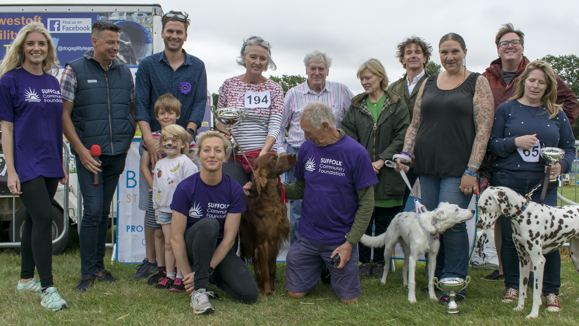 The Winning Dogs at Suffolk Dog Day