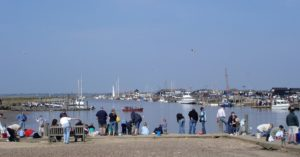 Ideal for Easter in Suffolk, crabbing at Walberswick