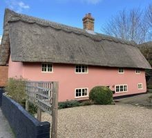 The external view of the Thatched House