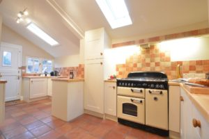 corner holiday cottage kitchen