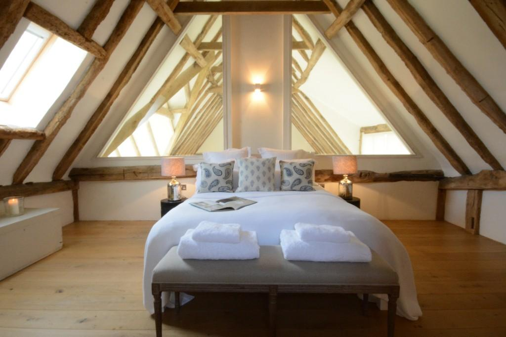 Bedrooms at Mousehall Barn