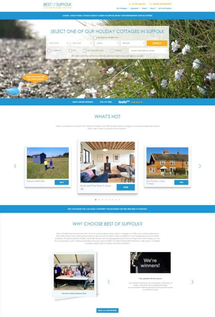 Best of Suffolk Holiday Cottage Letting Website